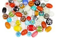 Perles indiennes chevrons en verre - 40 perles - Perles en verre - 10doigts.fr