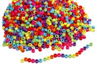 Perles cylindre - 2000 perles - Perles enfants - 10doigts.fr
