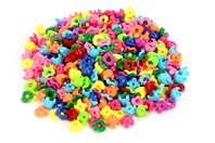 Perles capsules emboîtables - 350 perles - Perles en plastique - 10doigts.fr