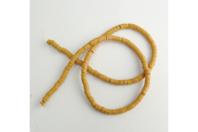 Perles Heishi jaune moutarde - environ 400 perles - Perles opaques - 10doigts.fr