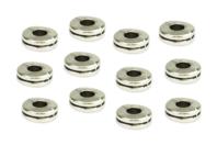 Perles intercalaires disque argenté - 12 perles - Perles Lithothérapie - 10doigts.fr