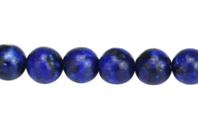 Perles Lapis Lazuli - 48 perles - Perles Lithothérapie - 10doigts.fr
