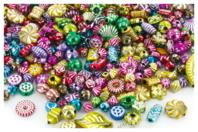 "Perles métallisées ""Mardi Gras"" - 300 perles - Perles en plastique - 10doigts.fr"