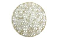 Perles blanches nacrées - Qualité économique - Perles nacrées - 10doigts.fr