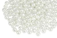 Perles blanches nacrées - Qualité supérieure - Perles nacrées - 10doigts.fr