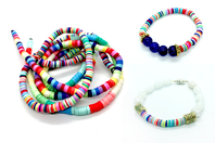 Perles rondelles Heishi - 900 perles - Perles Heishi et coquillages - 10doigts.fr