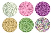 Perles de rocaille couleurs nacrées - 9000 perles - Perles de rocaille - 10doigts.fr