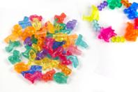 Perles animaux transparents - Environ 30 perles assorties - Perles enfants - 10doigts.fr
