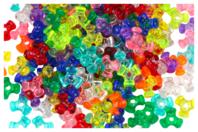 Perles tripodes translucides - 250 perles - Perles en plastique - 10doigts.fr