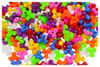 Perles tripodes opaques - 250 perles - Perles en plastique - 10doigts.fr