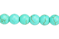 Perles Turquoise - 48 perles - Perles Lithothérapie - 10doigts.fr