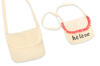 Petit sac à main en coton - Supports tissus - 10doigts.fr
