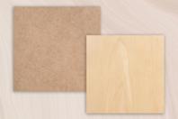Support plat carré en bois ou MDF  - Forme au choix - Supports plats - 10doigts.fr