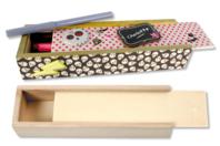 Plumier en bois avec tiroir coulissant - Boîtes et coffrets - 10doigts.fr