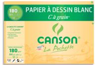 Papiers à dessin blanc Canson - 12 feuilles  - Ramettes de papiers - 10doigts.fr