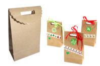 Petites pochettes Kraft - 24 pochettes - Boites cadeaux - 10doigts.fr