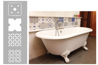 Pochoir frise carreaux de ciment - 15 x 40 cm - Pochoirs frises - 10doigts.fr