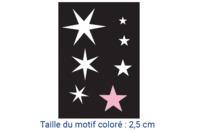 "Pochoirs adhésifs repositionnables ""Etoiles"" - Pochoirs Adhésifs - 10doigts.fr"