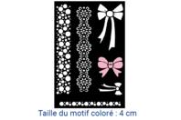 """Pochoirs adhésifs repositionnables """"Noeuds"""" - Pochoirs pour textile - 10doigts.fr"""