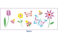 Pochoir frise Nature - 15 x 40 cm - Pochoirs Nature - 10doigts.fr