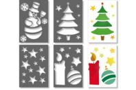 Pochoirs de Noël - Set de 4 - Pochoirs fêtes - 10doigts.fr