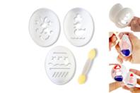 Pochoirs pour oeufs - 3 motifs - Décoration du plastique - 10doigts.fr