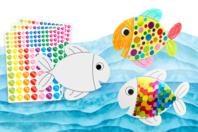Poissons à décorer - 6 poissons - Kits activités Pâques - 10doigts.fr