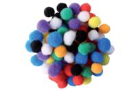Mini-pompons couleurs vives - Set de 200 - Pompons - 10doigts.fr