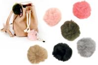 Pompons en fausse fourrure - Set de 3 couleurs - Pompons - 10doigts.fr