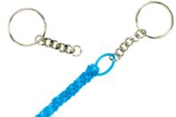Porte-clés à anneaux avec chaîne - Lot de 25 - Porte-clés pour bijoux - 10doigts.fr