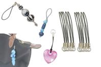 Attaches gri-gri noires - Porte-clés pour bijoux - 10doigts.fr