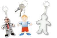 Porte-clés silhouette - Plastique Transparent - 10doigts.fr