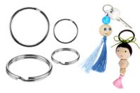 Anneaux doubles brisés argentés - Diamètre au choix - Porte-clés pour bijoux - 10doigts.fr