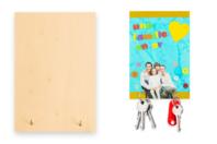 Porte-clés mural en bois - Plaques de porte - 10doigts.fr