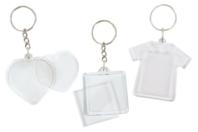 Porte-clés en plastique transparent à personnaliser - Plastique Transparent - 10doigts.fr