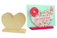 Porte-courrier coeur en bois - Range-courriers - 10doigts.fr