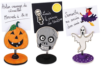Marque-places en bois imprimé - Halloween - 10doigts.fr