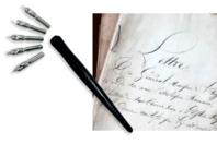 Porte-plumes + 6 Plumes Calligraphie - Calligraphie, Ecriture - 10doigts.fr