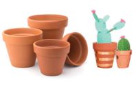 Pots en terre cuite - Taille au choix - Supports en Céramique et Terre Cuite - 10doigts.fr