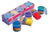 Pâtes à modeler (dès 2 ans) - 5 pots de 110 gr - Pâtes à modeler souples 1er âge bébé - 10doigts.fr