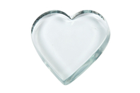 Presse-papier coeur en verre - Lot de 10 - Supports en Verre - 10doigts.fr