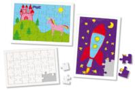 Puzzles blancs en carton - Lot de 10 - Puzzles à colorier - 10doigts.fr