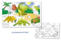 Puzzle à colorier - DINOSAURES - Coloriages - 10doigts.fr