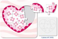 """Puzzle  """"Coeur"""" à colorier - Puzzles à colorier, dessiner ou peindre - 10doigts.fr"""