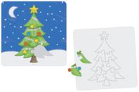 """Puzzle """"Sapin"""" à colorier - Puzzles à colorier - 10doigts.fr"""