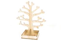 Arbre Porte-bijoux en bois 20 cm - Rangements - 10doigts.fr