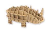 Rhinocéros en carton à assembler - Maquettes en carton - 10doigts.fr