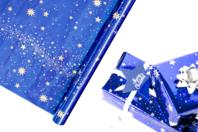 Rouleau papier cadeau Ciel étoilé - Papier effet métallisé, pailleté, nacré - 10doigts.fr