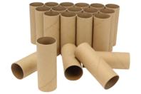 Rouleaux en carton pour bricolages - Lot de 24 - Lettres et Formes - 10doigts.fr