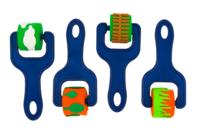 Rouleaux à empreintes - Set de 4 motifs - Rouleaux - 10doigts.fr